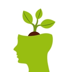 Think green profile icon vector