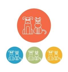 Veterinary pet health care animal medicine icons vector image vector image