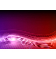 wave abstract hot red vector image