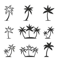 Palm tree icon set vector