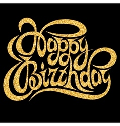 Template for greeting card happy birthday with vector