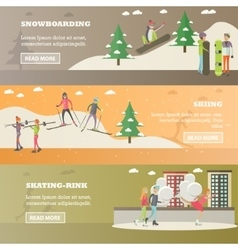 Set of winter sports and recreation concept vector