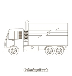 Coloring book truck vector