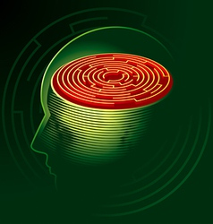 labyrinth mind vector image