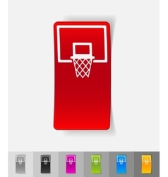 Realistic design element basketball hoop vector