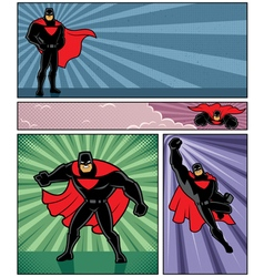 Superhero banners 4 vector