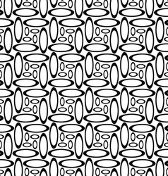 Monochrome repeating ellipse pattern vector