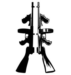 gangster gun vector image