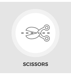 Scissors flat icon vector