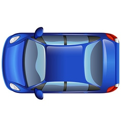 A blue car vector image