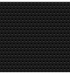 Abstract dotted black metal background texture vector