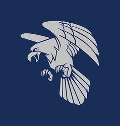 Bald eagle silhouette vector
