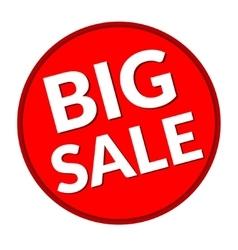 big sales in round vector image