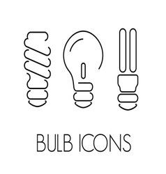bulb thin1 vector image vector image
