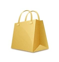 Cardboard paper bag vector image