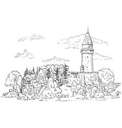castle stramberk vector image