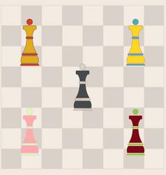 Chess queen set vector