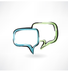dialogue grunge icon vector image vector image