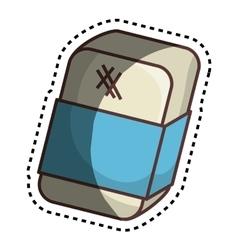Eraser tool school isolated icon vector