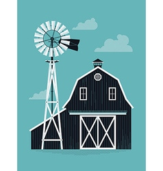 Farm barn vector