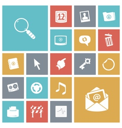 Flat design icons for user interface vector image vector image