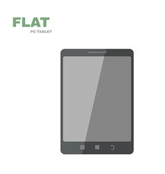 Flat PC tablet isolated on white vector image vector image