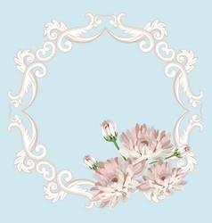 Floral seamless frame vector