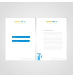 Flyer template back and front design Medical Icons vector image vector image