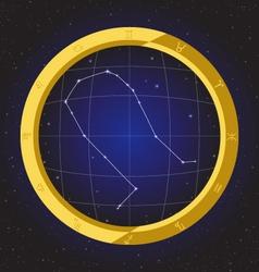 Gemini star horoscope zodiac in fish eye vector