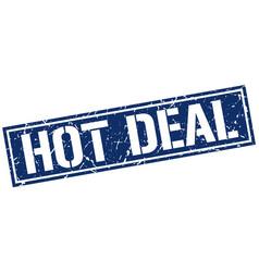 Hot deal square grunge stamp vector