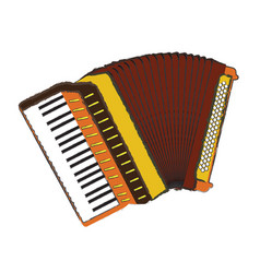 Isolated accordion vector