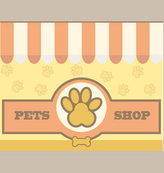 logo design template for pet care shops vector image vector image