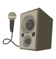 Microphone with speakers icon cartoon style vector