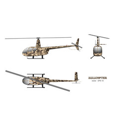 Military helicopter in realistic style vector