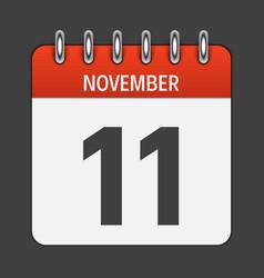 November 11 calendar daily icon vector