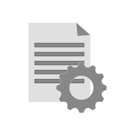 Paper document and gear icon vector