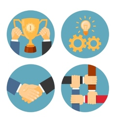 partnership and cooperation business vector image