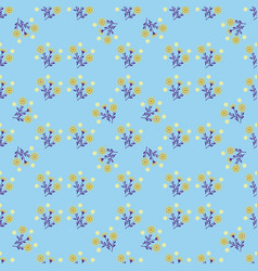 Pattern of flowers on a blue background vector