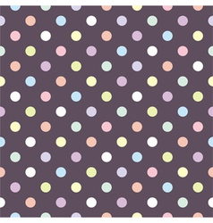 Tile polka dots pattern or seamless background vector image vector image