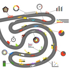 Transportation scheme with infographoc elements vector image vector image