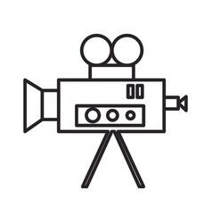 video cinema retro camera line icon sign vector image vector image