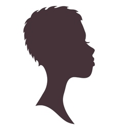 Woman face silhouette young african girl vector