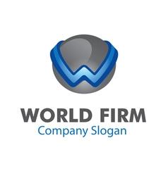 World firm design vector