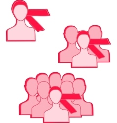 pink ribbon women vector image