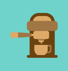 flat icon on background coffee electronic machine vector image
