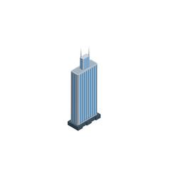 Isolated skyscraper isometric business center vector