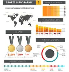 Sport infographic elements vector image