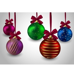 Christmas balls background holiday winter hristmas vector