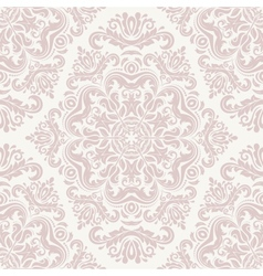 Damask seamless pink pattern vector