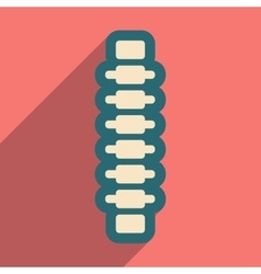 Flat icon with long shadow human spine vector